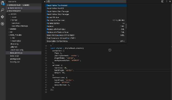 VSCode For React Native