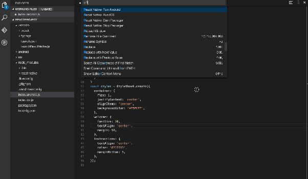 VSCode For React Native