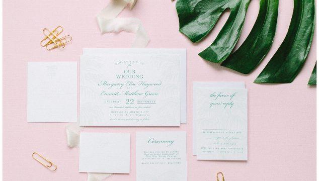 Summer Invitation Round Up – Palm Tree Wedding Invitations