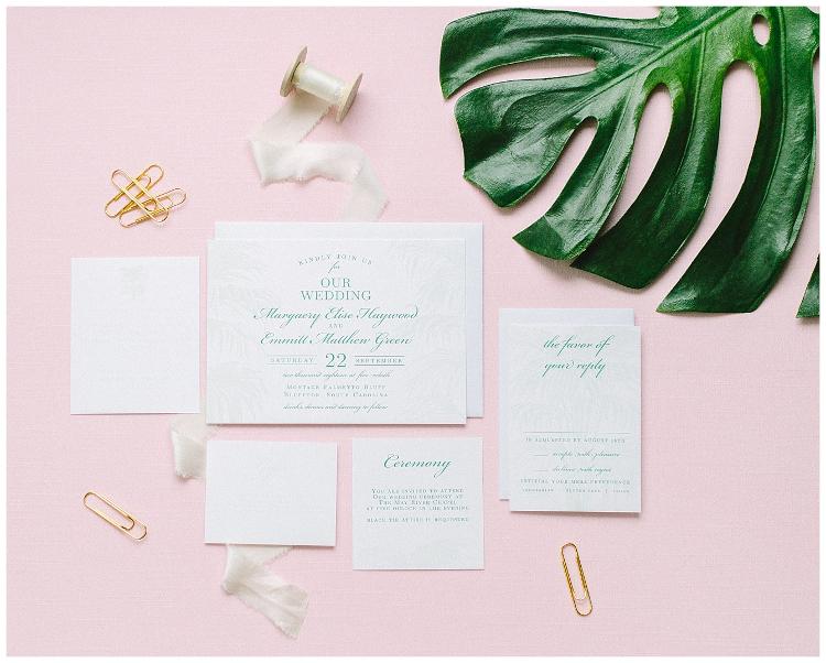 Summer Invitation Round Up - Palm Tree Wedding Invitations